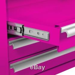 The Original Pink Box 4-Drawer 18G Steel Rolling Tool/Salon Cart with Bulk Storage