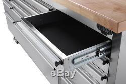 Thor Stainless Steel 72 15 Drawers Rolling Tool Storage Sliding Metal Box Bench