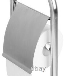Toilet Brush & Paper Holder Bathroom Tissue Roll Storage Stainless Steel Base