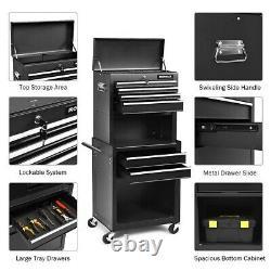 Tool Box Rolling Cart Cabinet Shop Garage Storage Chest Wheels Lock 6 Drawer