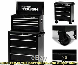 Tool Box with Wheels Cart on Metal Roll Around Large Rolling Chest Mens Storage
