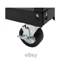 Tool Cart Rolling Wood Top Solid Wood Storage Heavy Duty Shelf Lockable 3 Drawer