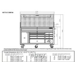 Tool Chest Work Bench Cabinet Pegboard Top 61in Rolling Garage Storage Husky NEW