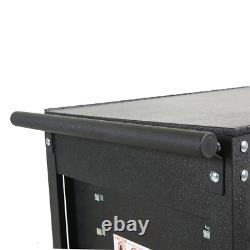 Tool Utility Cart Storage Black Holder Rolling Wheels Garage 5 Lockable Drawer