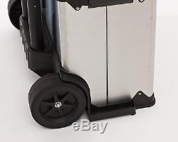 Toolbox Organizer Storage Cabinet Rolling Suitcase Drawers 3-In-1 Steel Cart
