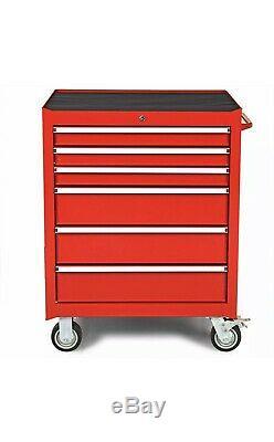ULINE Rolling Steel Tool Box Cart Storage Cabinet Heavy Duty Garage 6 Drawers