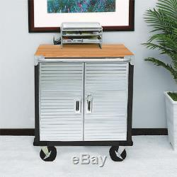 Ultrahd 2-door Rolling Lockable Storage Cabinet, 28 W X 18 D X 34.5 H