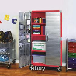 Ultrahd 72 Tall 2-door Rolling Storage Cabinet, 36 W X 18 D X 72 H, Red