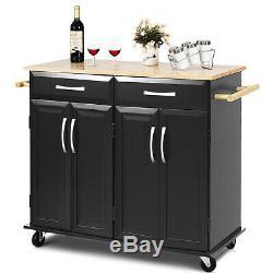 Utility Home& Kitchen Rolling Storage Cart Trolley Island Cart Kitchen Cabinet