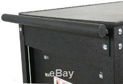Utility TOOL Cart Storage Cabinet 31 in. 5-Drawer Rolling Wheels Steel Black
