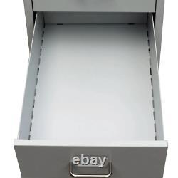 VidaXL File Cabinet with 5 Drawer Steel 27 Gray Storage Organizer Container