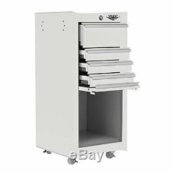 Viper Tool Storage V1804WHR 16-Inch 4-Drawer 18G Steel Rolling Tool / Salon with