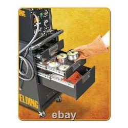 Welding Cart Heavy Duty Storage Push Rolling Cabinet With Drawer Organizer Tools