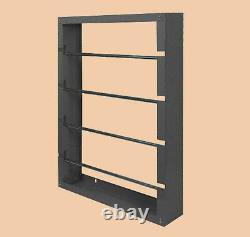 Wire Spool Storage Rack 4 Spindle WorkShop Rolled Steel Welded Wall Mount Gray