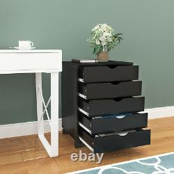 YITAHOME 5 Drawer Dresser Storage Chest Beside Wall Bedroom Save Space Indoor