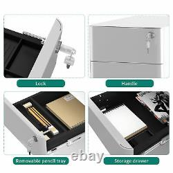 YITAHOME Steel File Cabinet Locking Rolling Organizer Storage Drawer Home Office